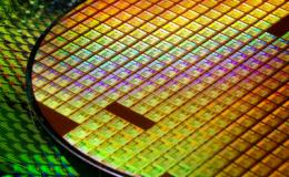 Silica wafer processed into electronics